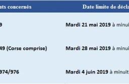 Dates limites des déclarations d'impôts 2019 : version en ligne et papier.