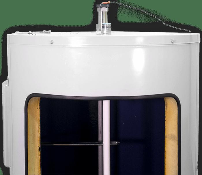 Ánodo dentro del calentador de agua.