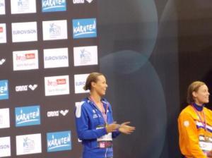 Berlino 2014 - Federica sul podio