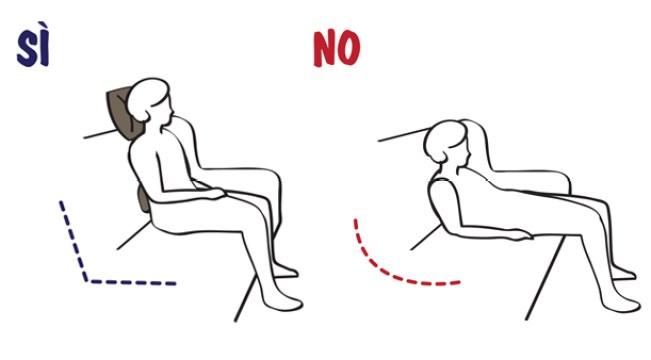 la posizione giusta sul divano