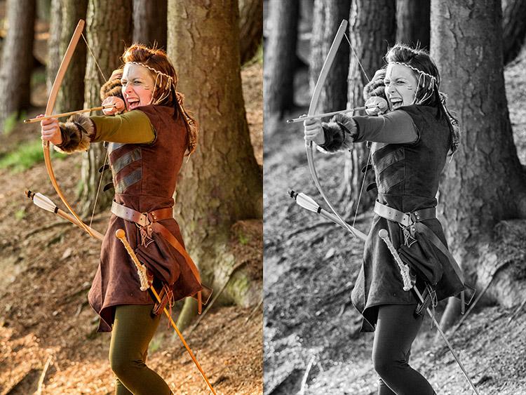 A sinistra l'immagine originale. a destra l'immagine convertita con il metodo Gradient Map