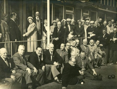 Opening of clubhouse extension by Mrs G Davis 3rd May 1958