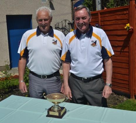 2014 ELBA Senior Pairs Winners. Bill Cumming & Willie Stoddart