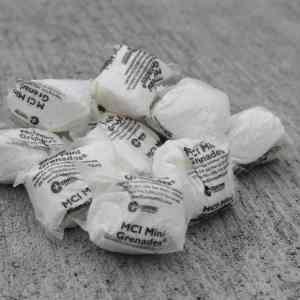 Several bags of MCI mini grenades