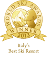 %name italys best ski resort 2013 winner shield gold 96 1