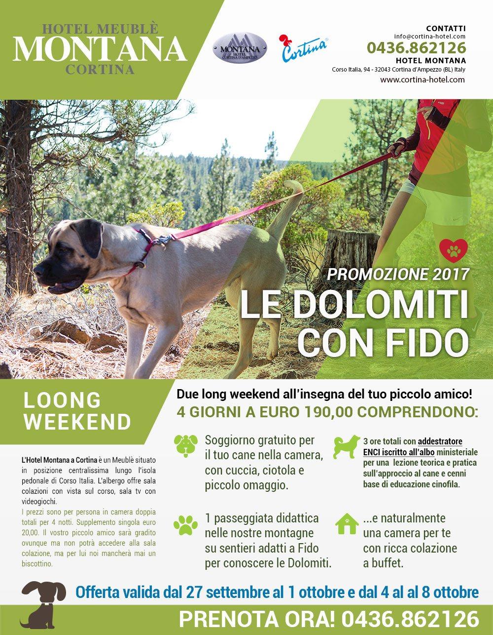 promozione hotel cortina cani Promozione: Le dolomiti con fido. Porta il tuo cane in hotel a Cortina