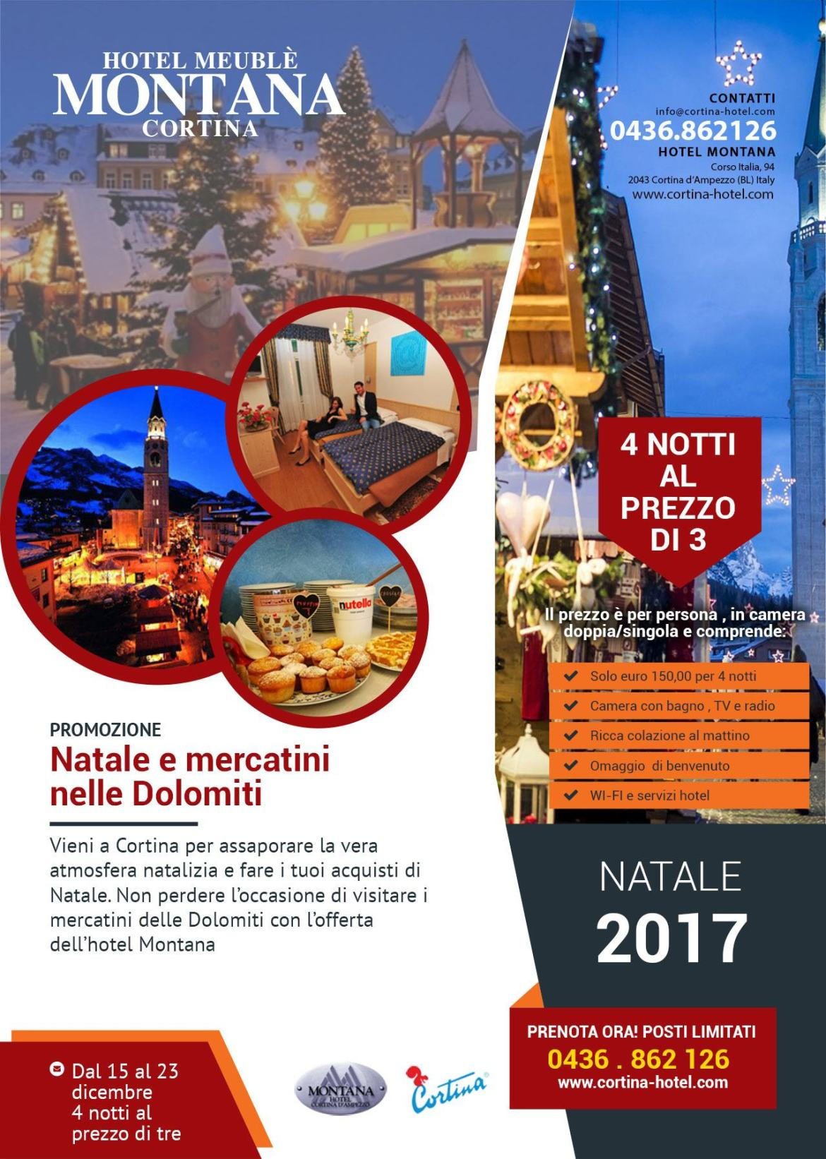 mercatini natale dolomiti offerta hotel Promozione Natale 2017 e mercatini nelle Dolomiti