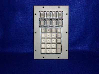 Cortron Model KP27 Keypad No Pointing Device  Non-Backlit Panel Mount Enclosure