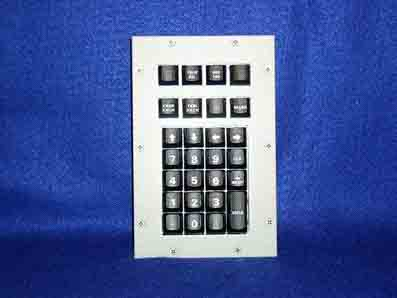 Cortron Model KP27 Keypad No Pointing Device  Backlit Panel Mount Enclosure