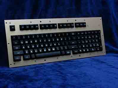 Cortron Model 100 Keyboard No Pointing Device  Backlit Panel Mount Enclosure