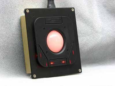 Cortron Model T20D Pointing Device 2 inch DuraTrackball  Backlit Panel Mount Enclosure Integral Flange Gasket