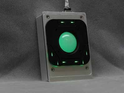 Cortron Model T20D Pointing Device 2 inch DuraTrackball  Backlit Panel Mount Enclosure Brightness Controlled by Keyboard