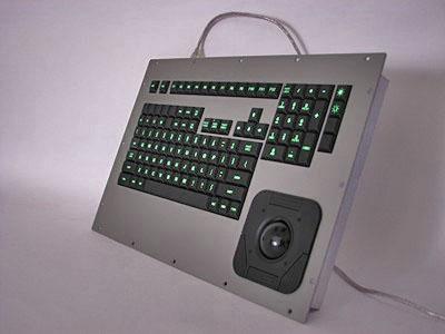 Cortron Model 121 Keyboard T20D  Backlit Panel Mount Enclosure