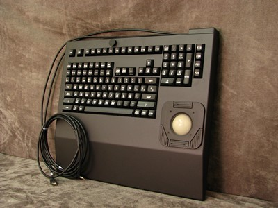 Cortron Model 121 Keyboard T20D  Backlit Rack Mount Enclosure