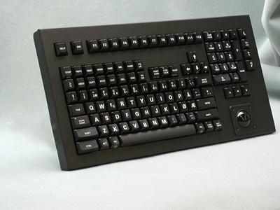 Cortron Model 121 Keyboard T14  Backlit Table Top Enclosure Norwegian Legends.