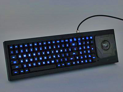 Cortron Model 90 Keyboard T20D  Backlit Table Top Enclosure Airborne Light Weight