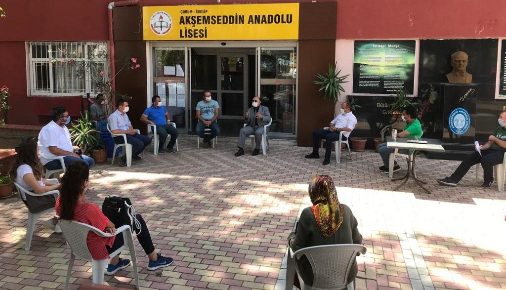 Akşamseddin Anadolu Lisesi'ne Tebrik Ziyareti