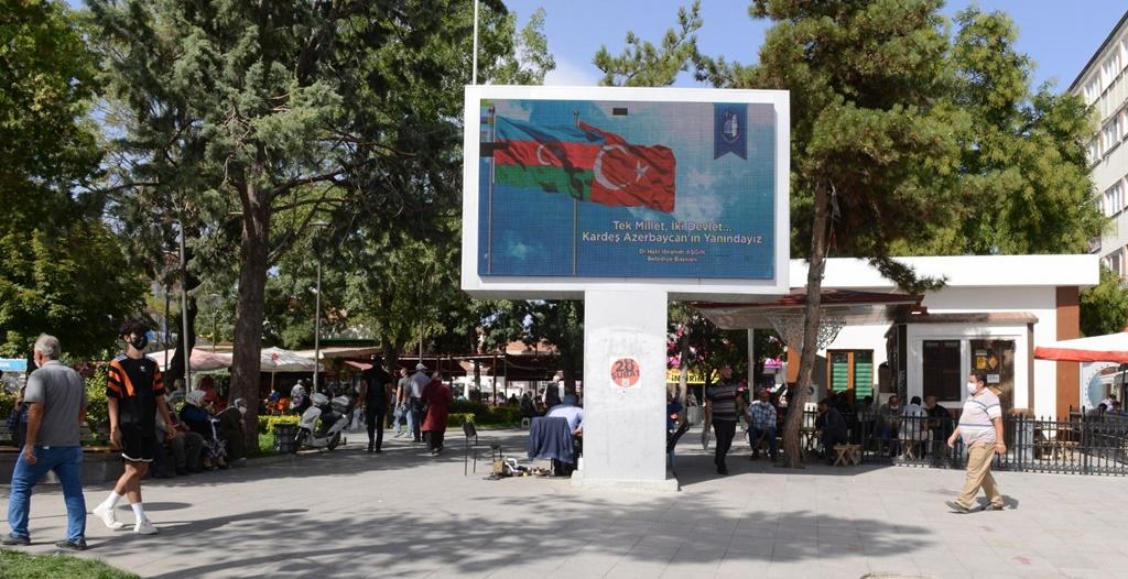 Belediye'den Azerbaycan'a Bayraklı Destek