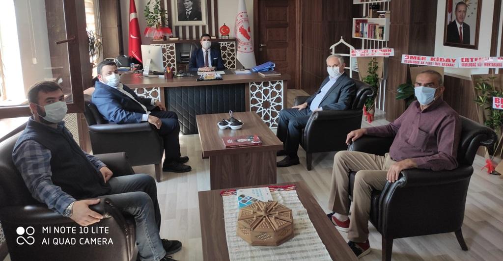 MHP'den Kaymakam Çiftçi'ye Ziyaret
