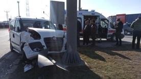 Çorum'da Meydana Gelen Kazada 2 Kişi Yaralandı
