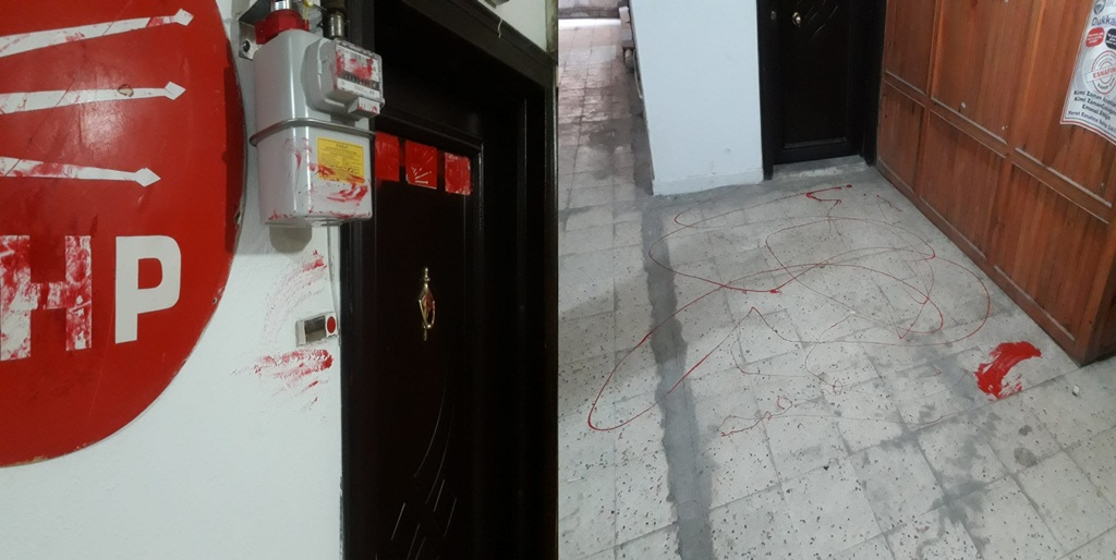 CHP İskilip İlçe Binasına Boyalı Saldırı