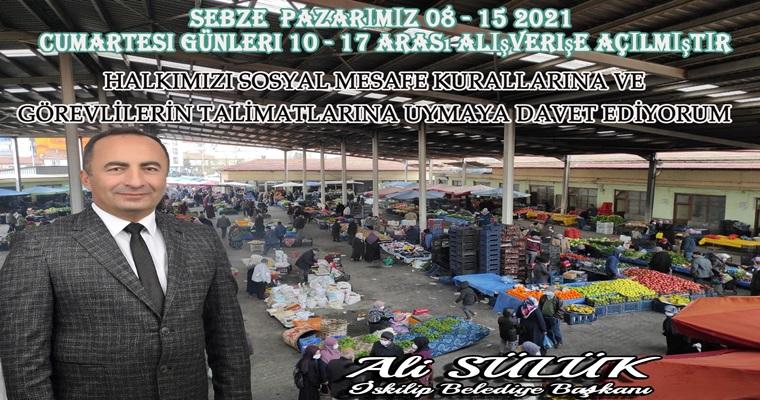 İskilip'te Sebze Pazarı Açılıyor
