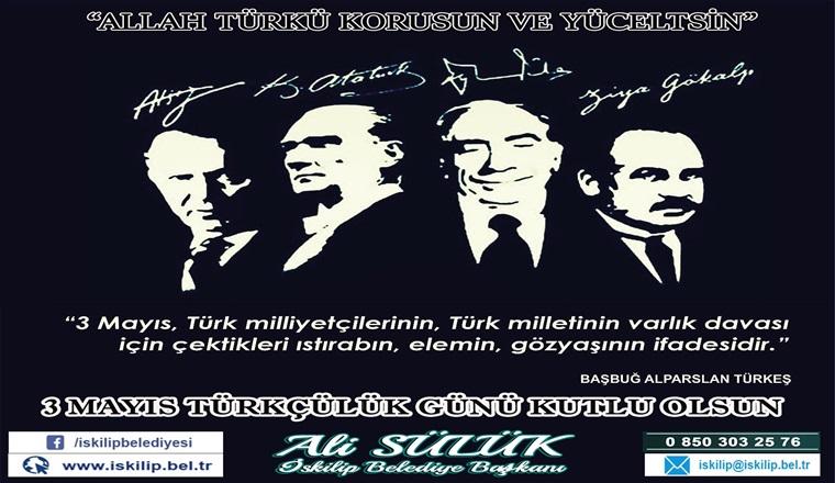 Başkan Sülük, 3 Mayıs Türkçülük Gününü Kutladı