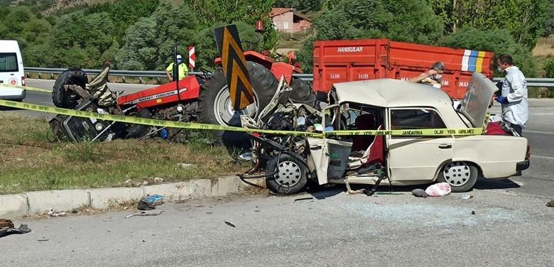 Çorum'da Trafik Kazası : 3 Ölü