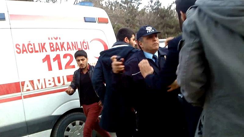 ÇORUM'DA POLİS-VATANDAŞ KAVGASI