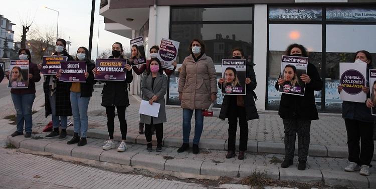 KADIN CİNAYETLERİ PROTESTO EDİLDİ