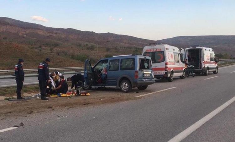 Trafik kazasında 7 kişi yaralandı!