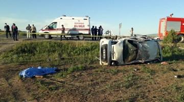 Kazada araçtan fırlayan sürücü öldü
