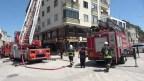 Binadaki baca yangını korkuttu