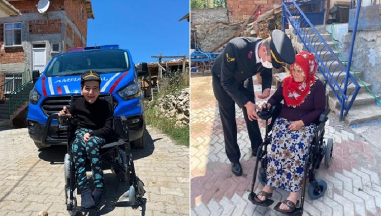 Jandarma'dan 14 engelliye akülü araç