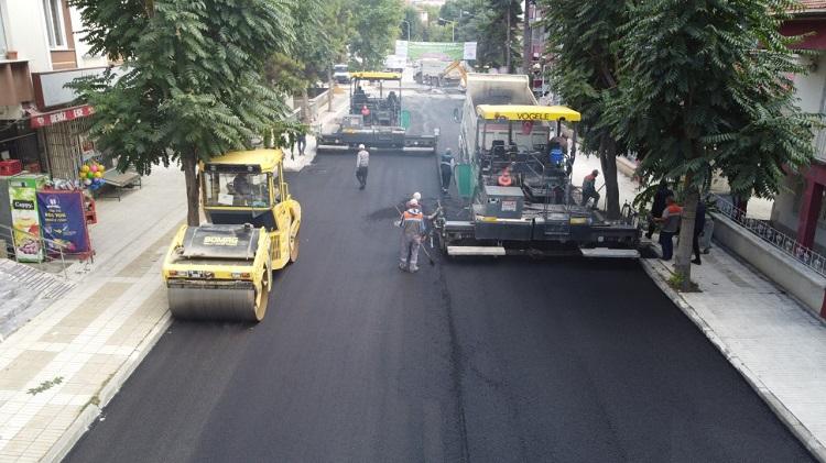 Şenyurt sokaklarda asfalt çalışması