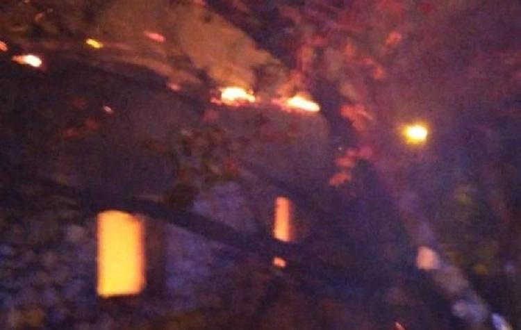 Köy camisinde yangın çıktı