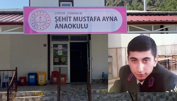 Şehit Astsubayın ismi okula verildi