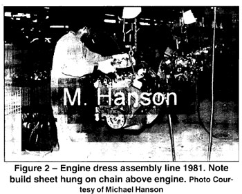 Figure 2: Corvette Engine Dress Assembly Line