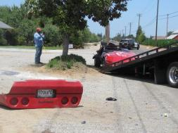 Man injured after rolling convertible Corvette in accident west of Modesto
