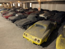 Many of the Corvettes still sit in a garage in Upper Manhattan. The cars — a set of 36, one from each year starting with the model's 1953 debut and continuing through 1989 — have long been famous among Corvette followers. Richard Prince