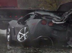 2013 Corvette Crashes Into Tree Killing Driver in California