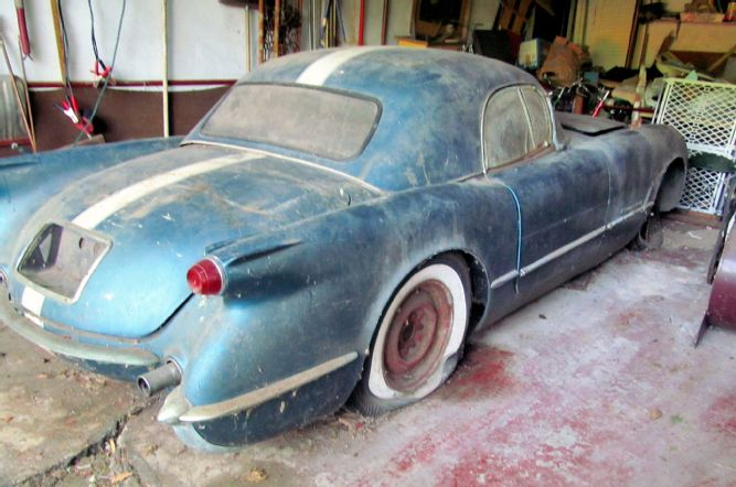 Pennant Blue 1955 Corvette Rescued by Retired GM Engineer
