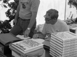 Noland Adams during one of his many book signings.
