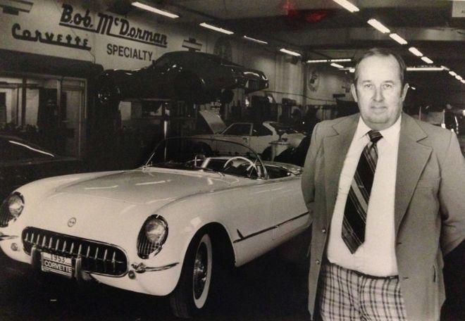 Bob McDorman in his dealership in 1983