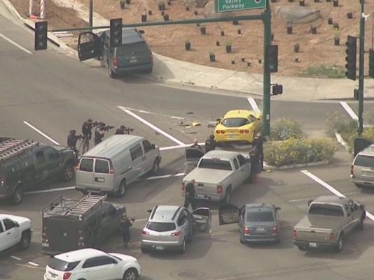 [VIDEO] Corvette Carjacking Ends in Crash in Arizona