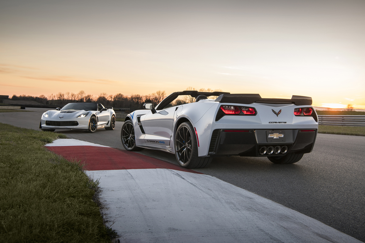 Limited to 650 vehicles globally, and available on Grand Sport 3LT and Z06 3LZ trims, the Carbon 65 Edition features visible carbon fiber exterior elements, a new Ceramic Matrix Gray exterior color and special interior appointments, including a new carbon fiber-rimmed steering wheel.