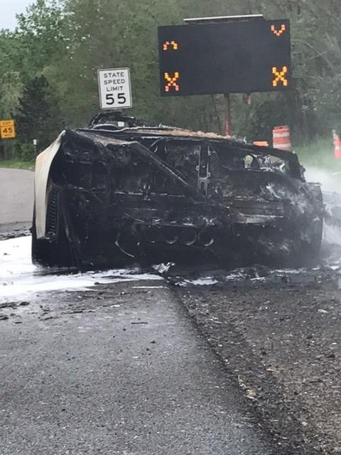 2016 Corvette Z06 Bursts into Flames on I-81 in New York