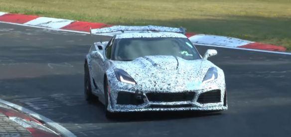 2018 Corvette ZR1 running the Nurburgring