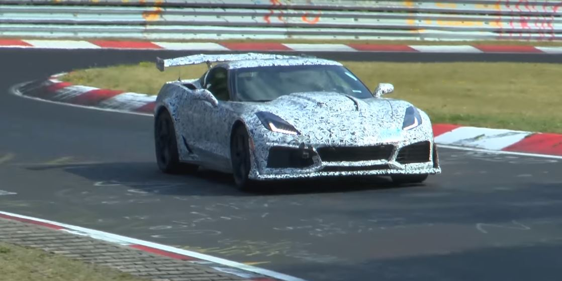 2018 Corvette ZR1 running the Nurburgring