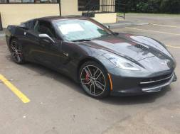 A Charlotte man is accused of stealing this $71,000 gray Corvette from Parks Chevrolet on North Tryon Street on Monday. Ron Lee WBTV